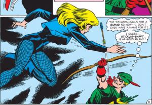 la première rencontre entre Black Canary et Green Arrow
